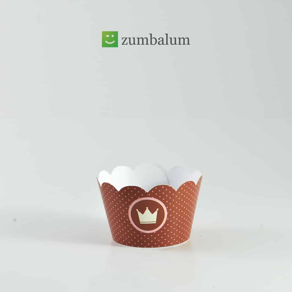 Wrapper mini Cupcake Coroa